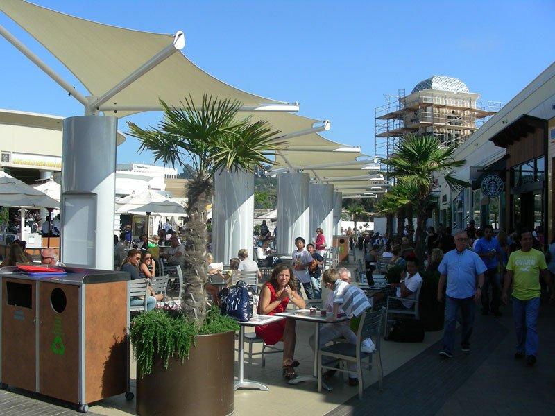 Polyfx_shopping-centre Fashion Valley sun shades